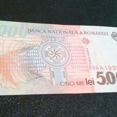 Bancnota Romania 5000 LEI 1998 UNC - Bancnota romaneasca