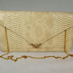 Plic/geanta dama bej piele ecologica+CADOU, Culoare: Din imagine, Marime: Medie