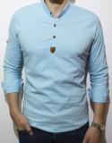 Camasa elastica - camasa slim fit - camasa turquaz - camasa barbati