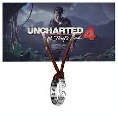Pandantiv Colier Lantisor Medalion Uncharted 4 inel Nathan Drake ps4 - Pandantiv fashion