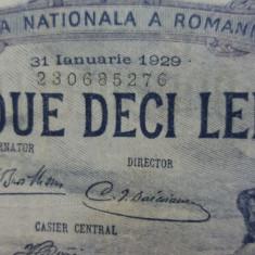 Bancnote romanesti 20lei 1929 luna ianuarie - Bancnota romaneasca