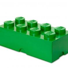 Cutie depozitare LEGO 2x4 - Verde inchis