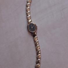 Ceas de dama - ACCURATE - placat cu aur 22 k - Ceas dama, Quartz