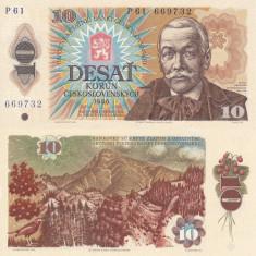 CEHOSLOVACIA 10 korun 1986 UNC!!! - bancnota europa