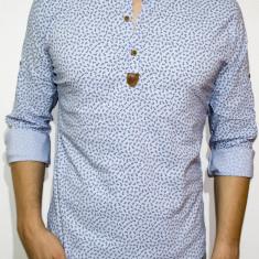 Camasa elastica ancore - camasa slim fit - camasa bleu - camasa barbati