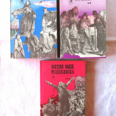 """MIZERABILII"", 3 vol., Victor Hugo, 1981. Carti absolut noi - Roman"
