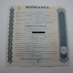 Certificat de actionar din anul 1997, Romania de la 1950