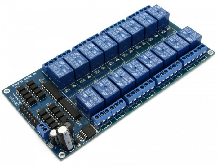 Releu 16 canale / 5V relay 16 channels LM2576 Arduino, relee
