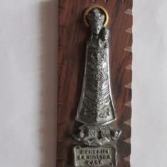 Aplica-BENEDICI LA NOSTRA CASA-cositor, vintage - Arta din Metal