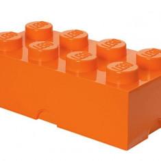 Cutie depozitare 2x4 - Portocaliu - Cutie depozitare LEGO
