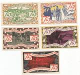 !! GERMANIA - LOT COMPLET NOTGELD  ZEULENRODA , 75 PF  1921 - UNC/ CELE DIN SCAN