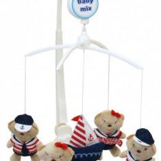 Carusel muzical Sailor Babies - Carusel patut Baby Mix, Multicolor