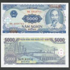VIETNAM 5000 5.000 DONG 1991 UNC [1] P-108a, necirculata - bancnota asia