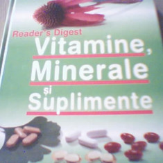 VITAMINE, MINERALE SI SUPLIMENTE { Reader`s Digest, 2008 }