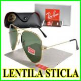 Ochelari de soare Ray Ban Lentila STICLA, Unisex, Metal, Verde, Ray Ban