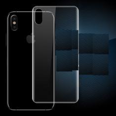 Folie Din Silicon Fata Spate Curbata Transparenta - Iphone X 10 - Folie de protectie, Lucioasa