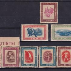 ROMANIA 1946 LP 197 LP 198 TINERETUL PROGRESIST SI P.A. SERII MNH - Timbre Romania, Nestampilat