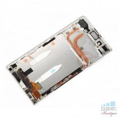 Ecran LCD Display cu Rama Sony Xperia Z5, E6603 Alb - Display LCD