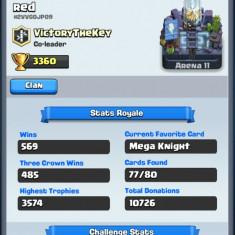 Vând cont clash Royale arena 11