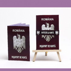 Invitatii Nunta - Pasaport de Nunta