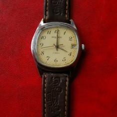 Ceas vechi Poljot 17 rubine, data, anii 60. - Ceas barbatesc Poljot, Mecanic-Manual