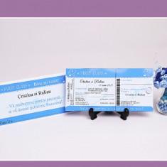 Invitatii Nunta - Bilet de Avion