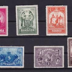 ROMANIA 1929 LP 82 - 10 ANI DE LA UNIREA TRANSILVANIEI SERIE CU SARNIERA - Timbre Romania, Nestampilat
