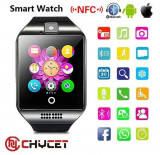 Ceas inteligent, Smartwatch Q116, IOS Android, SMS, SIM TF Card, Bluetooth, Otel inoxidabil