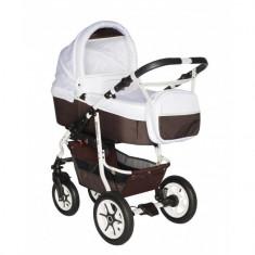 Carucior bebelusi 2 in 1 Pj Stroller Comfort White Brown