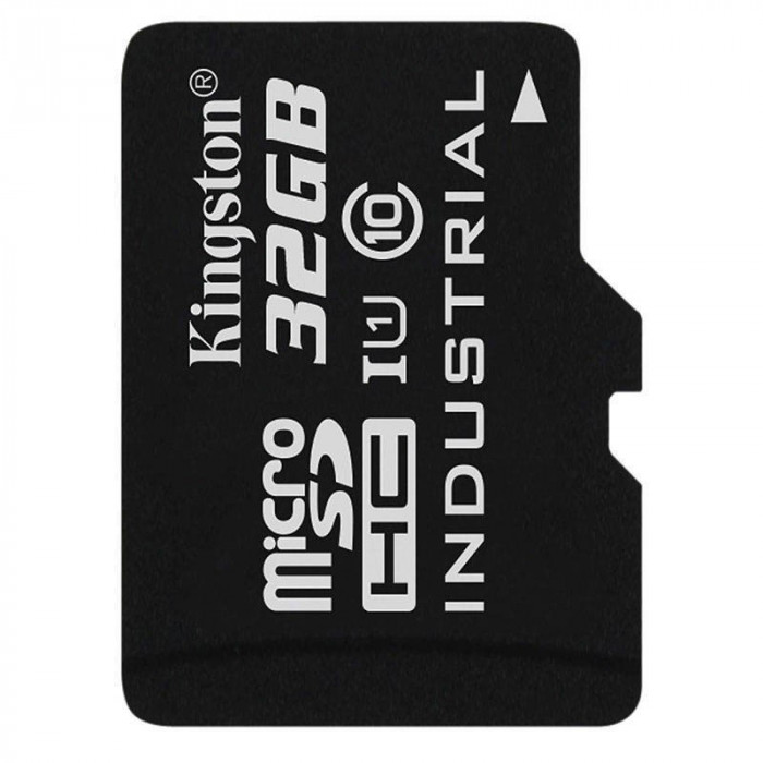 Card Kingston Industrial microSDHC 32GB 45 Mbs Clasa 10 UHS-I U1 foto mare