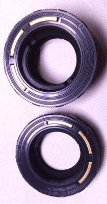un lot de 2 adaptor aparat foto vechi pentacon filet M 42 foto