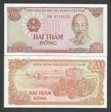 VIETNAM  200  DONG  1987  ( 1988 )  UNC   [1]  P-100b  ,   necirculata