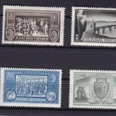 ROMANIA 1933  LP 104  CENTENARUL ORASULUI TURNU SEVERIN SERIE  MNH