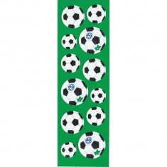 Stickere decorative cu mingi de fotbal pentru copii, Amscan 15273, Set 12 piese