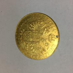 Moneda aur Austria 4 ducati 1844 Ferdinand I nu Franc Ios Franz Joseph, Europa
