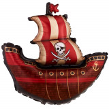 Balon folie figurina Nava Pirati - 102cm, Qualatex 11815