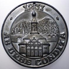 B.305 ROMANIA RSR MEDALIE BRASOV 1231 AB URBE CONDITA 50mm - Medalii Romania