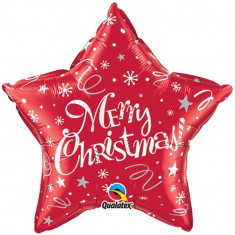 Balon Folie 51 cm Merry Christmas, Qualatex 99806