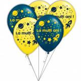 Buchet din baloane latex asortate La multi ani cu heliu, Radar BB.GI.LMA.ASTRO.BLUE