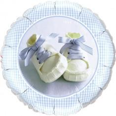Balon Folie 45 cm Baby Boy Shoes, Qualatex 81835