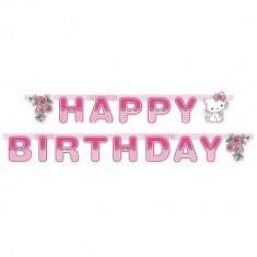 Banner decorativ pentru petrecere 1.8 m, Happy Birthday cu Charmmy Kitty, Amscan 551732, 1 buc