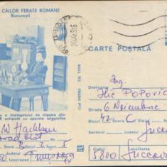 Intreg postal CP 1983, circulat - Muzeul Cailor Ferate Române - Masa de lucru, Dupa 1950