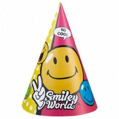 Coif petrecere copii Smiley, Amscan 250123, Set 6 coifuri - Costum petrecere copii