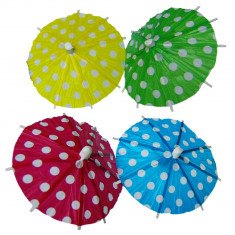 Scobitori decorative umbrelute Garden Party, Amscan 551721, Set 8 buc