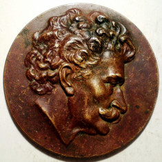 5.186 AUSTRIA MEDALIE COMPOZITOR JOHANN STRAUSS CENTENAR 1925 VIENA 40mm, Europa
