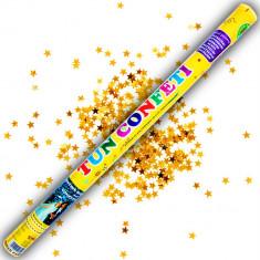 Tun de confeti 100 cm cu stelute aurii, Radar TUN.82100.GS, 1 buc
