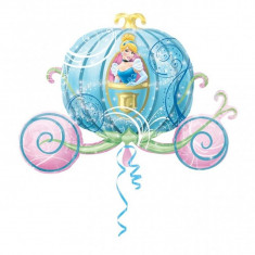 Balon folie figurina Caleasca Cenusaresei - 83x58cm, Amscan 26463 - Baloane copii
