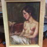 Tablou nud scoala italiana A TORRO - Pictor strain, Ulei, Art Deco