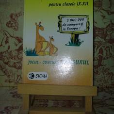 "Matematica Distractiva pentru cls IX-XII Jocul Concurs Cangurul ""A2149"", Clasa 9"
