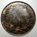 R.094 ROMANIA 5 BANI 1867 H XF, Cupru (arama)